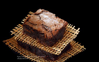 Rum Laced Fudgy Chocolate Brownies