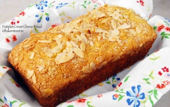Pumpkin Cream Cheese Bread w/ Almond Streusel