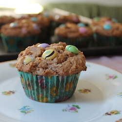 Stacy | Food Lust People Love | Peanut Butter and M&M Muffins