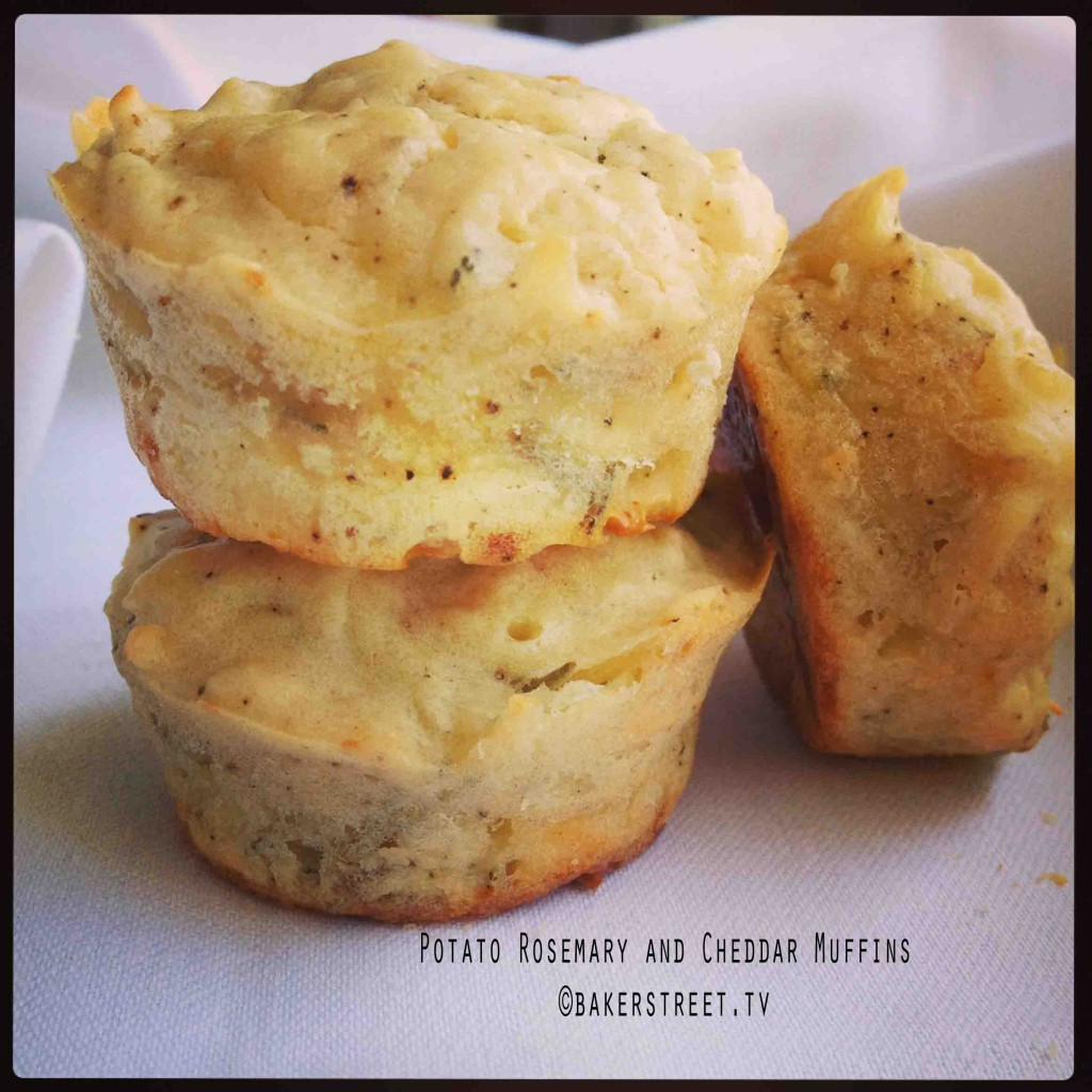 Potato Rosemary and Cheddar Muffins